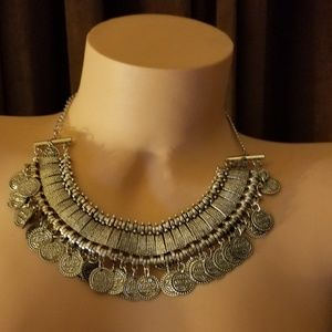 Amazing South Moon Under Coin Statement Necklace